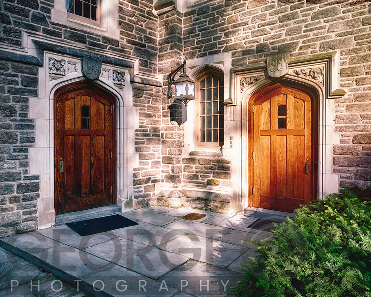 Doors of Wright Hall, Princeton, N ew Jersey