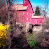 Red Mill in Early Spring, Red Mill Village,Clinton,  Hunterdon County, New Jersey