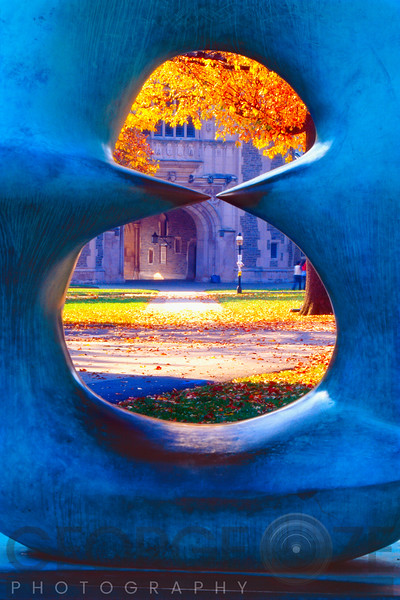 The Blair Hall Gate Viewed through a Sculpture,Princeton University, New Jersey