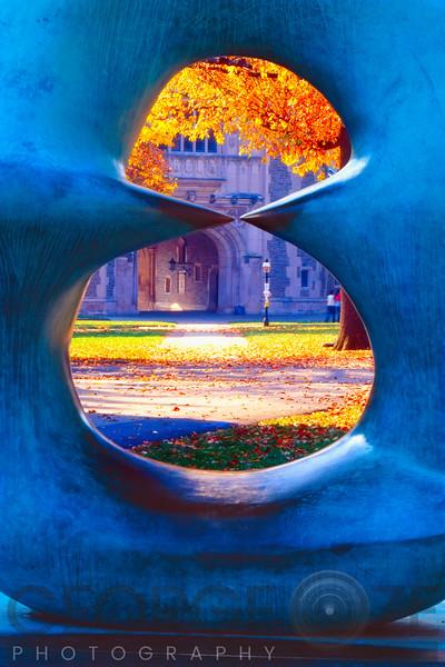 The Blair Hall Gate Viewed through a Sculpture,Princeton University, New Jersey