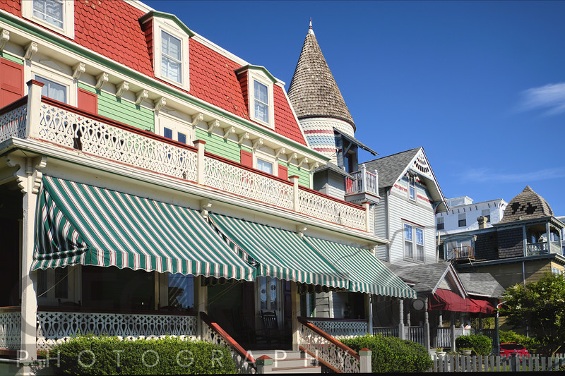 Victorian Style Houses on Ocean Street, Cape May, New Jersey