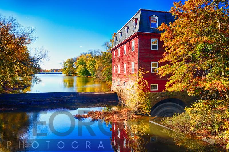 Kingston Mill Fall Scenic Overlooking Lake Carnegie