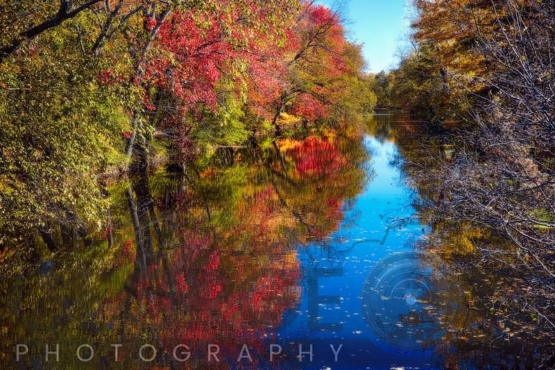 Fall Scenic Along the Delaware & Raritan Canal, Princeton, New Jersey