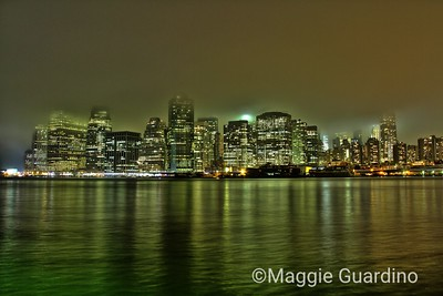Manhattan Nighttime Skyline