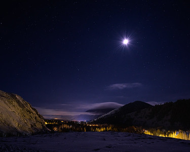 Moon Over The Wood River Valley, Idaho