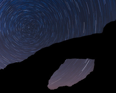 Star Trail, South Window, Arches National Park, Utah