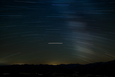 Southern Startrail with Mars over Idaho