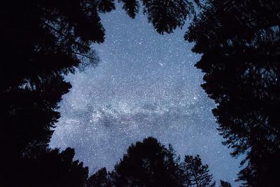 Milky Way and Andromeda over Sun Valley, Idaho