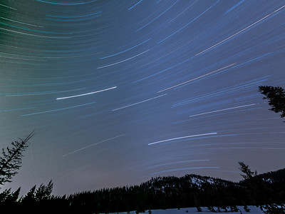 Winter Star Trails of the Southern Sky