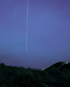 International Space Station Flies Over Sun Valley, Idaho.