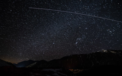 International Space Station Flies Over Sun Valley's Bald Mountain