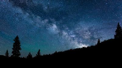 Milky Way, Smoky Mountains, Idaho