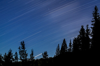 Southern Sky Star Trail with Mars & Saturn