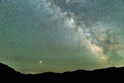 Saturn and the Milky Way, Galena Pass, Idaho