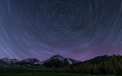 Star Trails Over The Boulder Mountains of Idaho