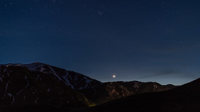Venus and Pleiades Over Sun Valley, Idaho's Bald Mountain