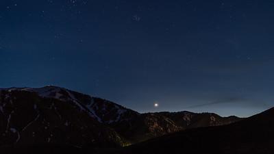 Venus and Pleiades Over Sun Valley, Idaho's Bald Mountain