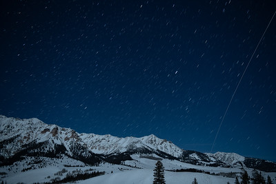 International Space Station Flies Over Idaho's Boulder Mountains