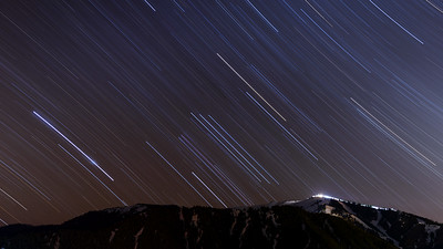 Orion Star Trails Over Sun Valley's Baldy