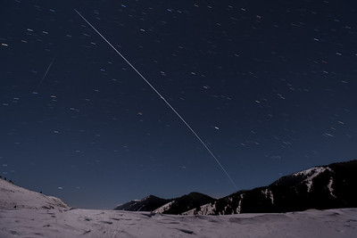 International Space Station Flys over Sun Valley, Idaho