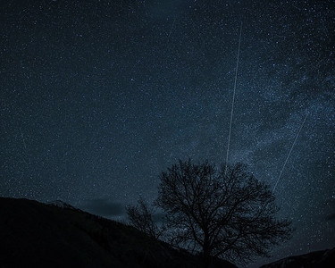 Lyrid Meteor Shower, #1,  Sun Valley, Idaho