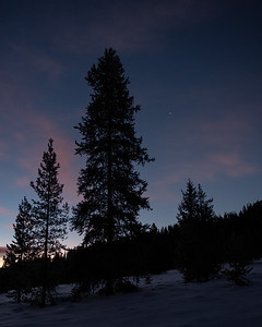 Venus at Sunrise, Smoky Mountains, Idaho