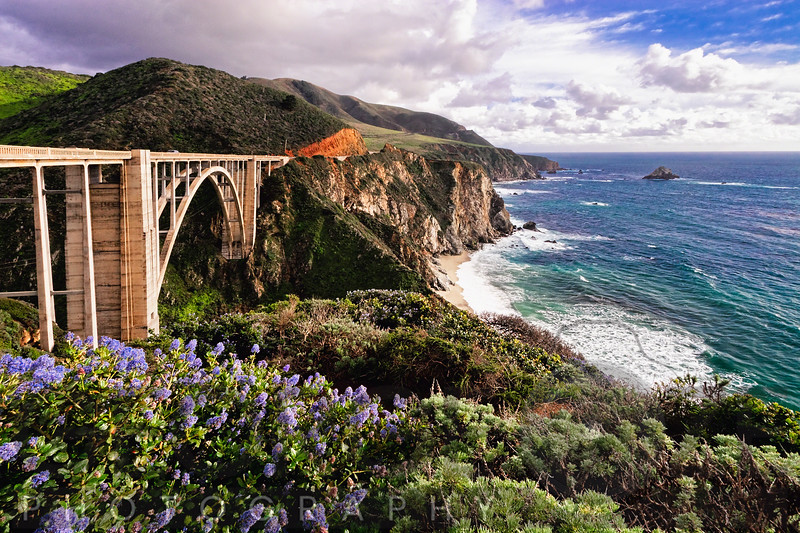 View Of The Bixby Creek Bridge Big Sur California