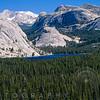 High Angle View of the Tenaya Lake, Yosemite National Park, California