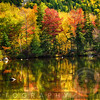 Colorful Foliage Reflection in a Tranquil Lake