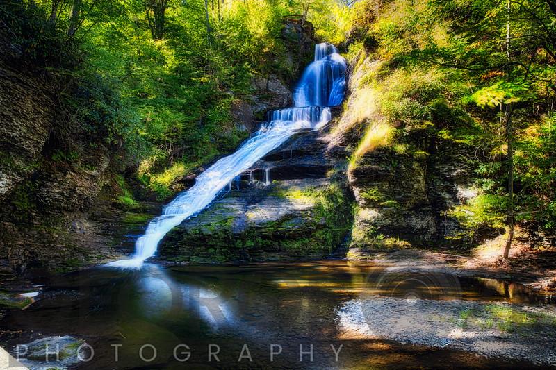 Summer View of the Dingmans Fall, Pennsylvania