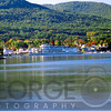 Scenic View of Lake George at Fall, New York State