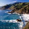 High Angle View of a Rugged Coast, Big Sur at Big Creek, California