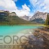 Low Angle View of Emerald Lake, British Columbia, Canada