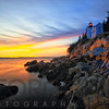 Bass Harbor Head Lighthouse Sunset, Mt Desert Island, Maine