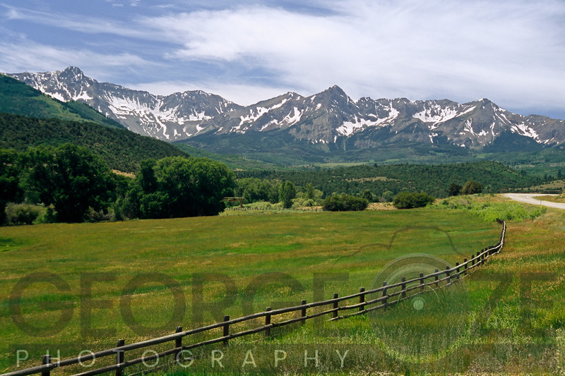 View of the San Juan Mountain Range, Rocky Mountains, Southern Colorado