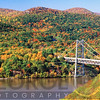 View of the Bear Mountain Bridge with Autumn Foliage, New York