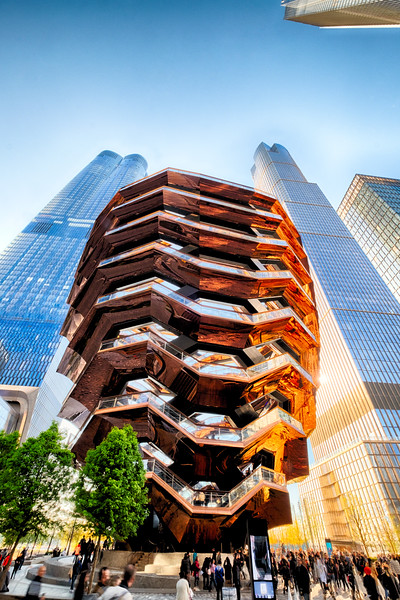 View of the Vessel a Stairway Structure, Hudson Yards, Manhattan, New York City