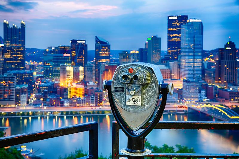 Coin Operated Binocular Oon Mt Washington, Pittsburgh, Pennsylvania