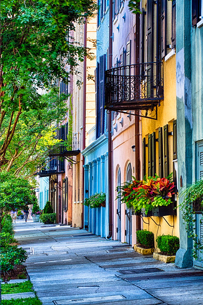 Rainbow Row View in Charleston