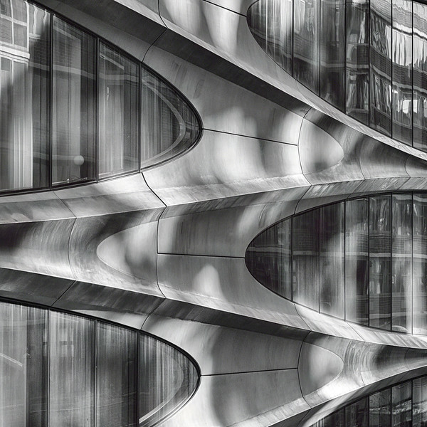 Futuristic Building Facade, Manhattam New York City