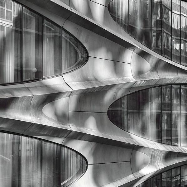 Futuristic Building Facade, Manhattam New York City