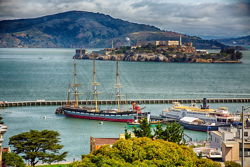 San Francisco Harbor with Historic Ships