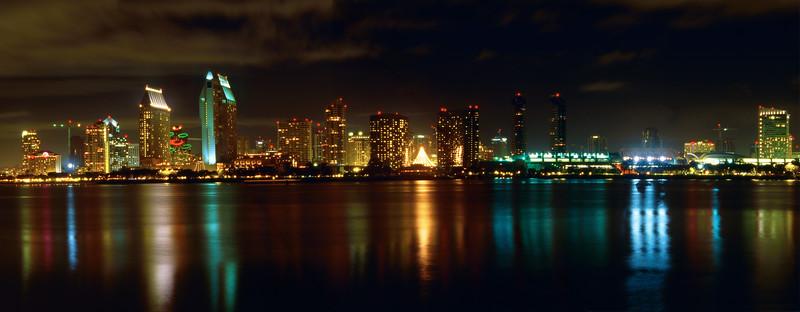 Panoramic View of San Diego at Night