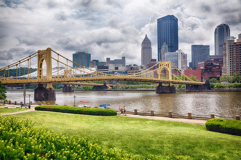 View of the Andy Warhol Bridge, Pittsburgh, Pennsylvania