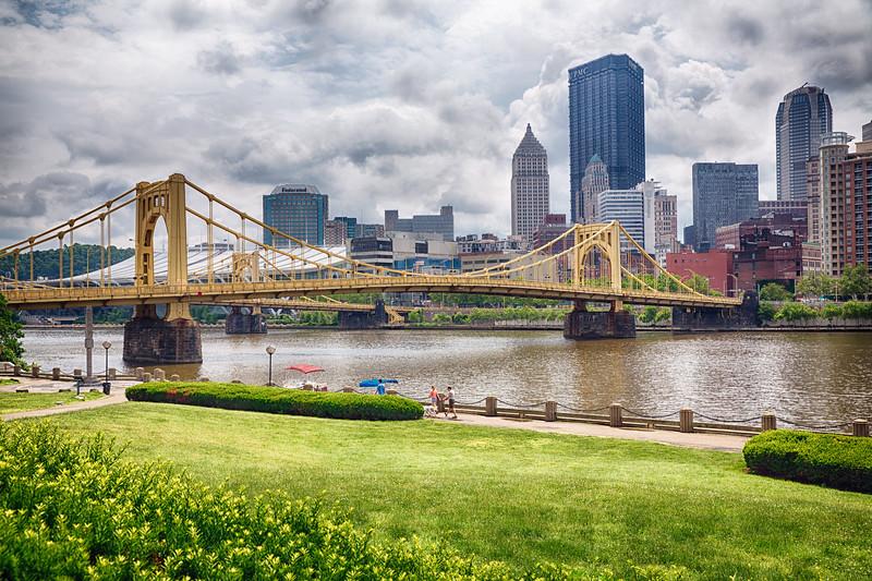 View of the Andy Warhol Bridge, Pittsburgh, Pennsylvania