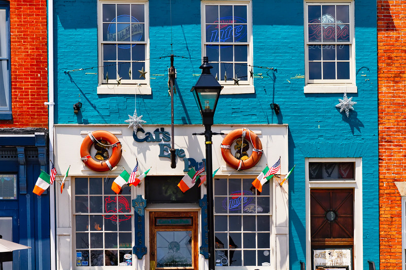 Colorfupl Pub Front at Fell's Point , Baltimore, Maryland