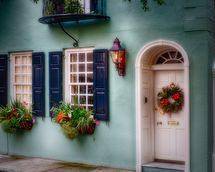 Entrance of a  Historic House in Charleston, South Carolina