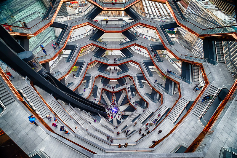 Interior of the Vessel, Hudson Yards, Manhattan, New York City