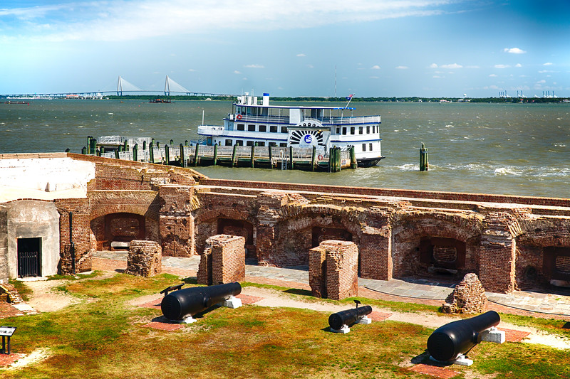 View of Charleston Harbor from Fort Sumter