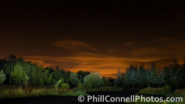 Night Lights over Lancashire, Gisburn